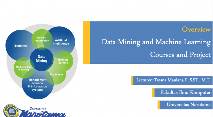 Overview Data Mining and Machine Learning Courses and Project