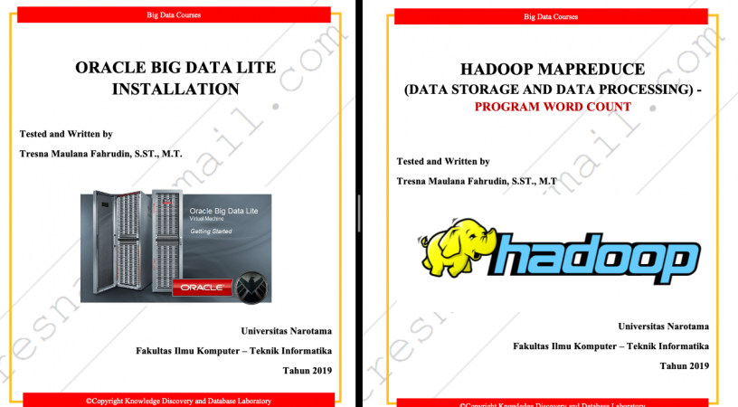 Instalasi Oracle Big Data Lite dan Praktek Menjalankan Program Word Count pada Hadoop MapReduce