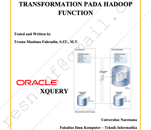 Day-5 Oracle XQuery Transformation pada Hadoop Function