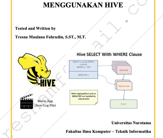 Data Manipulation Menggunakan Hive